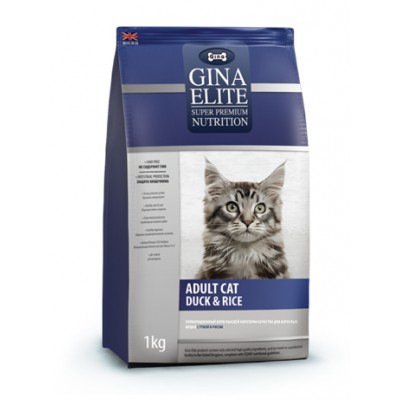 "Корм Gina Elite для кошек ""Adult Cat Duck & Rice"""