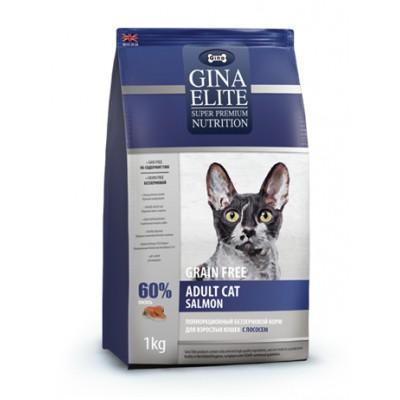 "Корм Gina Elite для кошек ""Grain Free Adult Cat Salmon"""