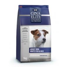 """Корм Gina Elite для взрослых собак с белой рыбой """"Adult Dog White fish & Rice"""""""