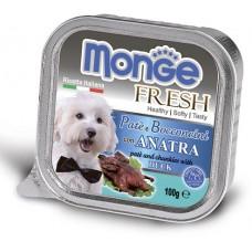 Корм Monge Fresh для собак паштет с уткой
