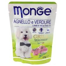 Корм Monge Grill для собак ягнёнок с овощами