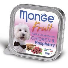 Корм Monge Fruit для собак паштет с курицей и малиной