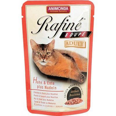 Паучи Animonda для кошек с курицей, уткой и пастой