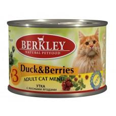 Berkley №3 корм для кошек с уткой и лесными ягодами
