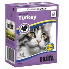 Bozita корм для кошек с рубленной индейкой в желе