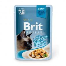 "Brit Premium корм для кошек ""Кусочки из куриного филе в соусе"""