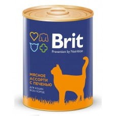 """Brit Premium корм для кошек """"Мясное ассорти с печенью"""""""