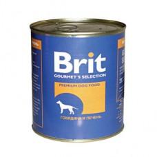 "Brit корм для собак ""Говядина и печень"""