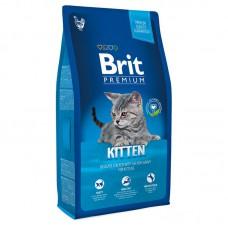Корм Brit Premium для котят с курицей в лососевом соусе