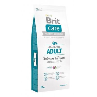 Скидка 15% на корм Brit Care для собак с лососем и картофелем 12 кг.