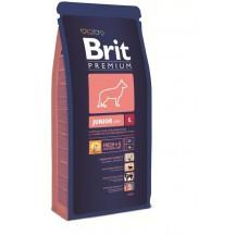 Корм Brit Premium для щенков крупных пород: 4-24мес. (Junior L)