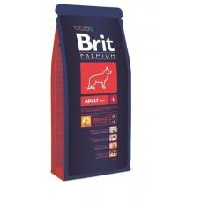 Корм Brit Premium для собак крупных пород (25-45кг) 2-6лет (Adult L)