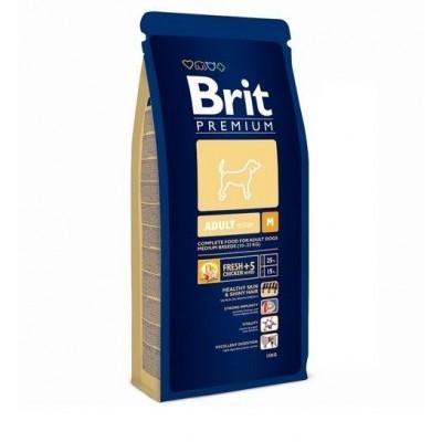 Корм Brit Premium для собак средних пород (10-25кг) 1-6лет (Adult M)