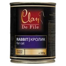 Clan De File консервы для кошек с кроликом