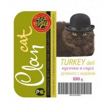 Clan консервы для кошек деликатес с индейкой