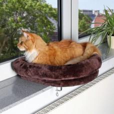 Лежак для кошки закрепляющийся на окне, 54х12х44 см