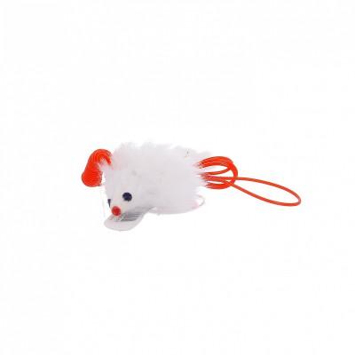 Игрушка для кошек мышонок-мягкая шерстка, натуральный мех кролика