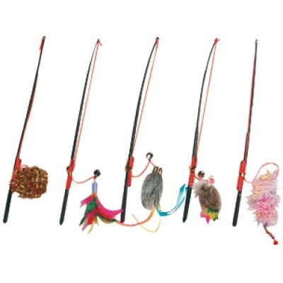 Karlie-Flamingo игрушка для кошек дразнилка удочка