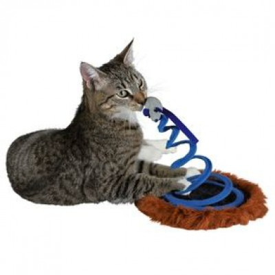 "Игрушка для кошки ""Мышь на пружине"", ф 20 х 25 см"