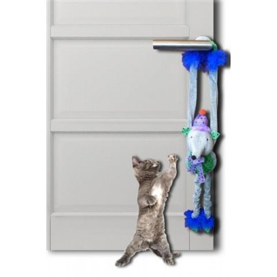 """Игрушка для кошки """"Плюшевая мышка с колокольчиками"""" 45 см"""