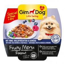 Корм Gimdog Frutty для собак рагу с говядиной, лесными ягодами и овощами