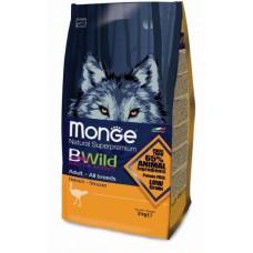 Корм Monge BWild Dog Osrich для собак с мясом страуса