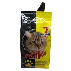 Наполнитель впитывающий для короткошерстных кошек Brava