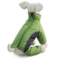 Зимний комбинезон зеленый для собак