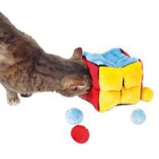 """Игрушка для кошки """"Кубик"""" 14х14х14см, плюш, с кошачьей мятой"""