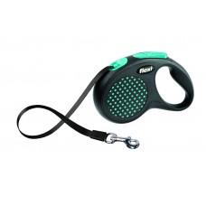 Flexi Design M-L рулетка-ремень для собак голубая 5м/50кг