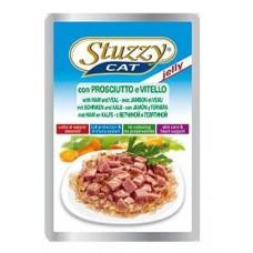 Stuzzy Cat корм для кошек с ветчиной и телятиной в желе