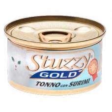 """Stuzzy Gold корм для кошек """"Тунец и крабовые палочки в собственном соку"""""""