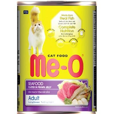 Консервы Me-O для кошек морепродукты в желе