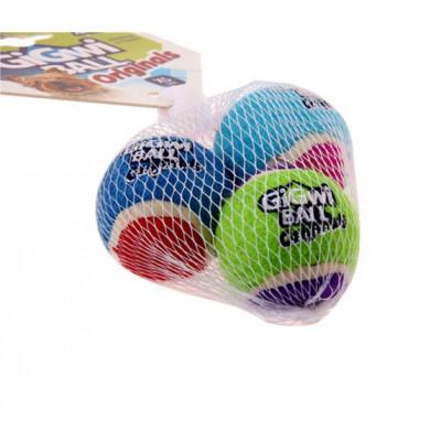 Игрушка для собак 3 мяча с пищалкой XS 4 см. GiGWi