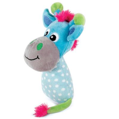 """Игрушка для щенков мягкая """"Жираф в горошек"""" голубой, 165мм"""