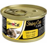 Консервы Gimpet ShinyCat для кошек из тунца с сыром.