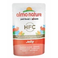 Корм Almo Nature HFC Jelly Salmon Adult Cat  для кошек лосось в желе.