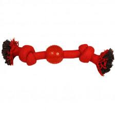 """Игрушка для собак """"Веревка-канат 2 узла и мяч""""230мм"""