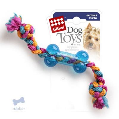"""Игрушка для собак """"косточка на веревке"""" 26 см. GiGWi"""
