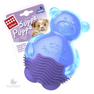 """Игрушка для собак """"Мишка с пищалкой"""" 10см GiGWi"""