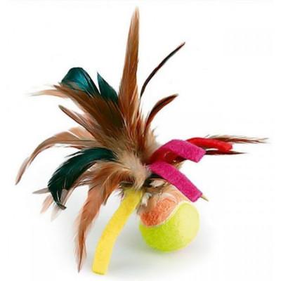 GiGwi Мячик с перьями 75068