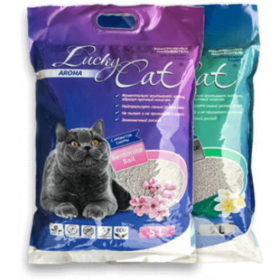 Наполнитель комкующийся Lucky Cat Сакура