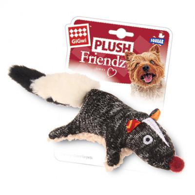 """Игрушка для собак """"Скунс с пищалкой"""" GiGWi 9 см"""