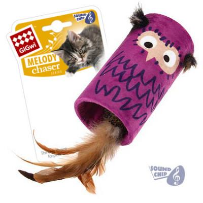 """Игрушка-дразнилка для кошек GiGwi """"Сова"""" со звуковым чипом"""