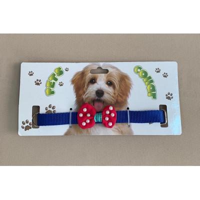 Ошейник нейлон для собак (бантик-жемчуг разноцвет.) 1,5 см.