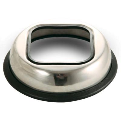 Миска-подставка металлическая под 100г упаковку влажного корма.