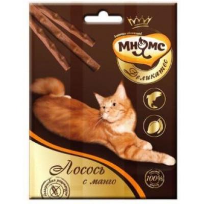 Мнямс лакомство для кошек палочки 9см лосось с манго 3*4г.
