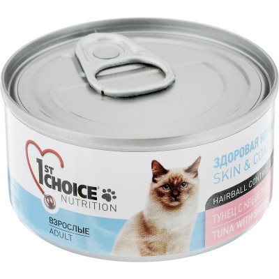 Корм 1st choice для кошек с тунцом, креветками и ананасом