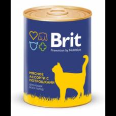 """Brit Premium корм для кошек """"Мясное ассорти с потрошками""""."""