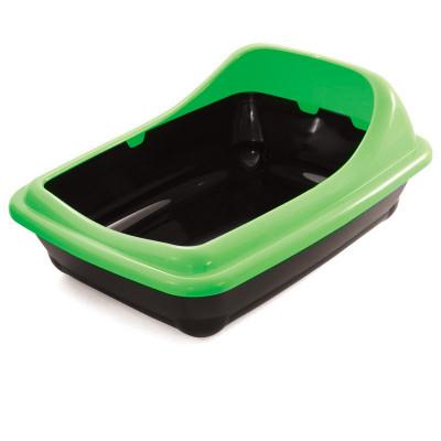 """Туалет для кошек прямоугольный с ассиметричным бортом """"Волна"""", 455*350*200мм"""